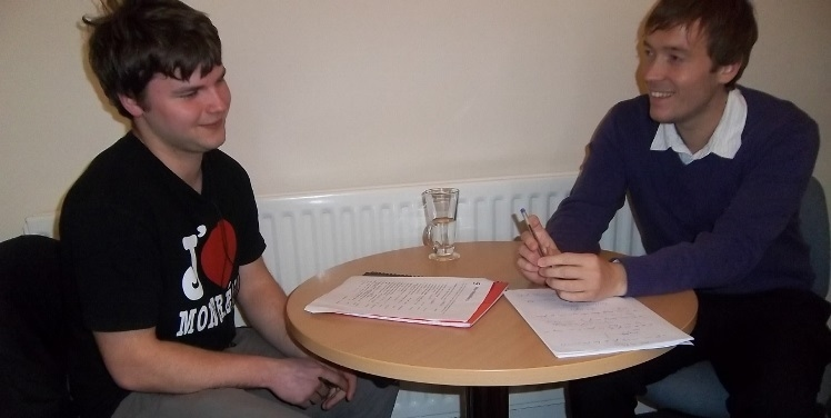 student preparing for ielts with a tutor