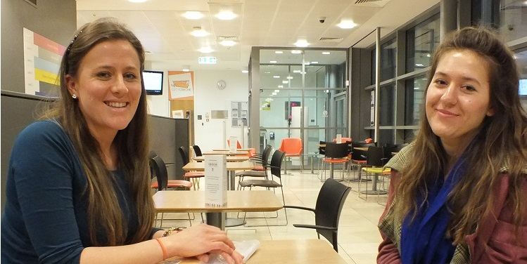 Spanish Tutor and Student in Library